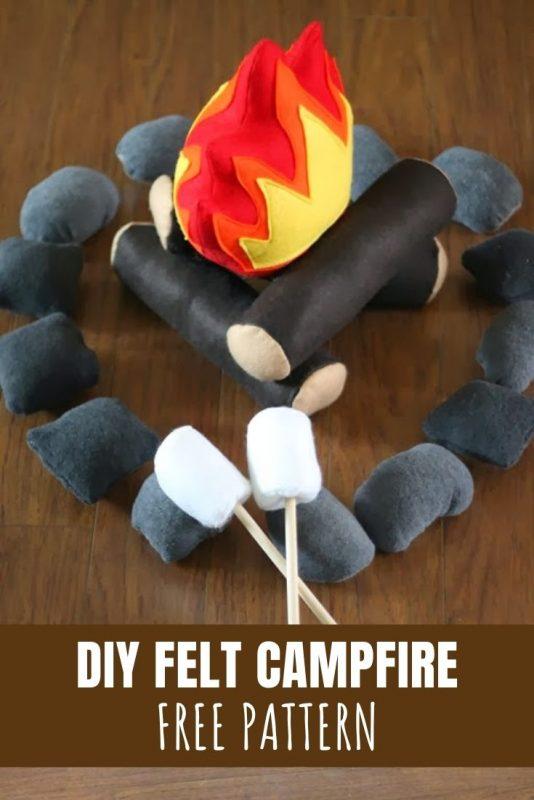 diy felt campfire pattern