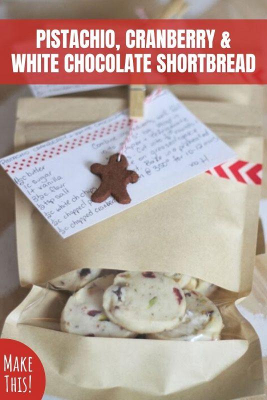 pistachio cranberry white chocolate shortbread