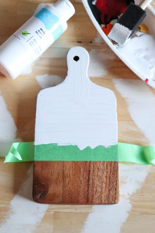holiday wooden cutting board sign