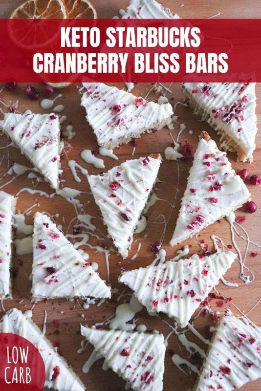 keto starbucks cranberry bliss bars
