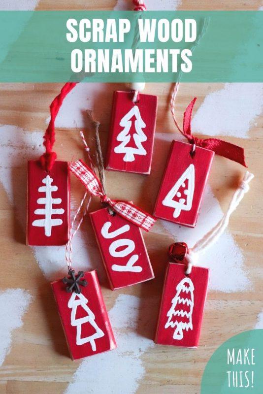 wood scrap ornaments