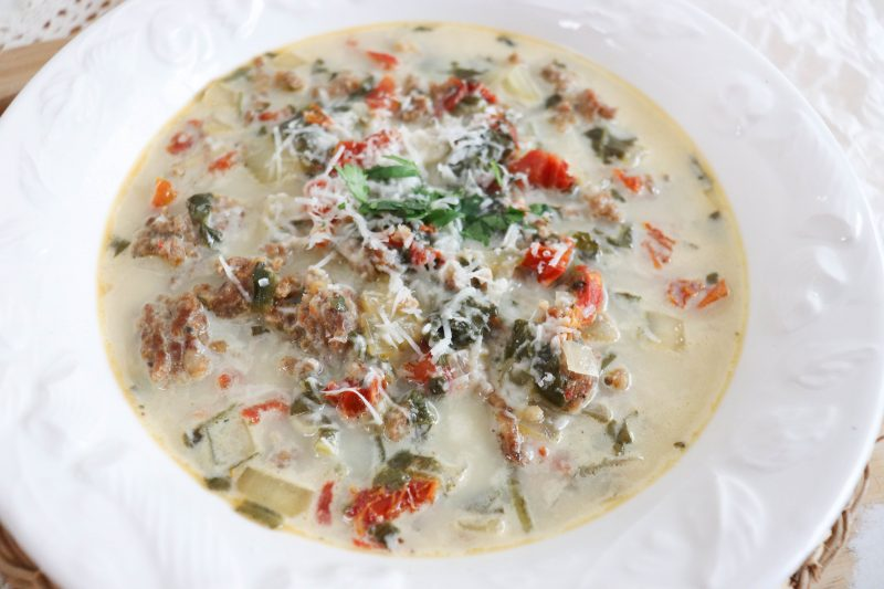 keto tuscan soup recipe