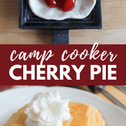 camp cooker cherry pie