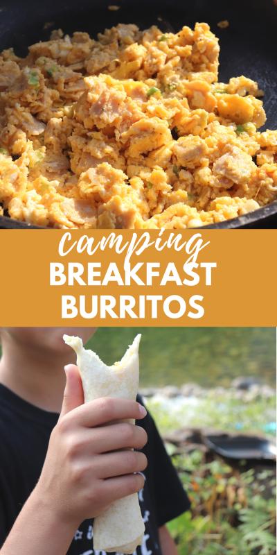 camping breakfast burritos