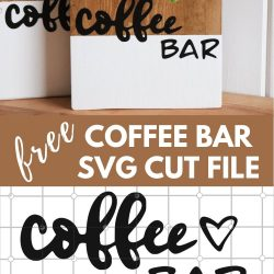 coffee bar svg cut file