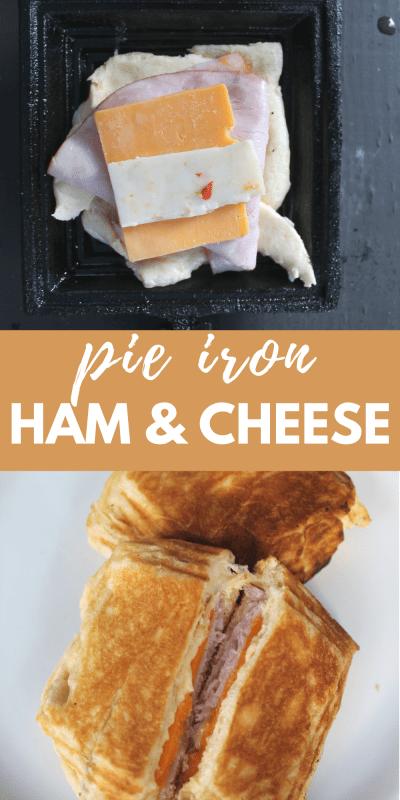 pie iron ham and cheese