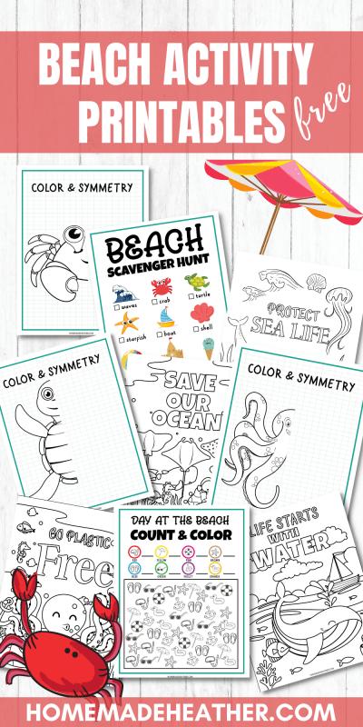 beach activity printable worksheets