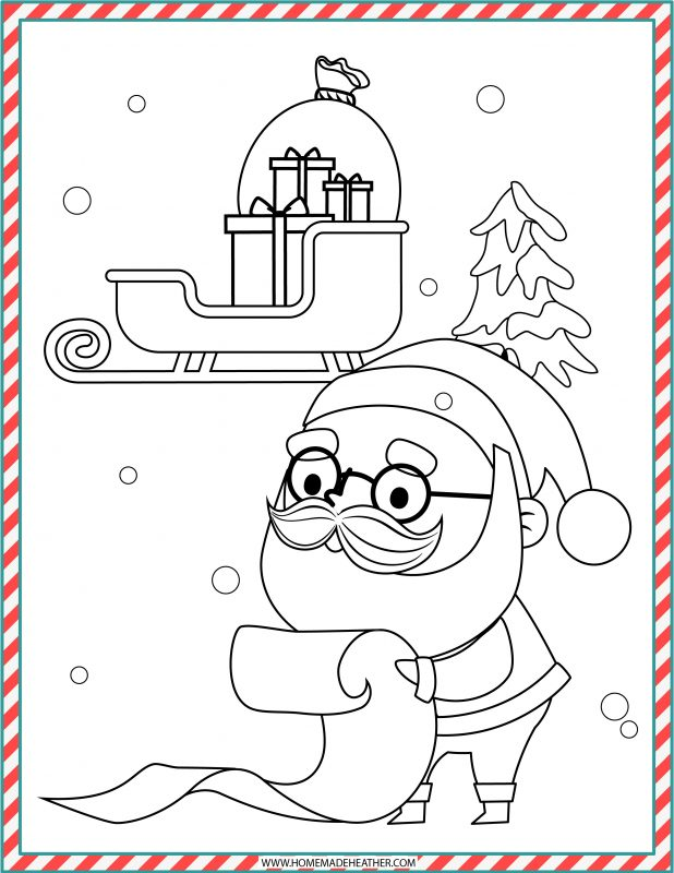 christmas coloring sheet