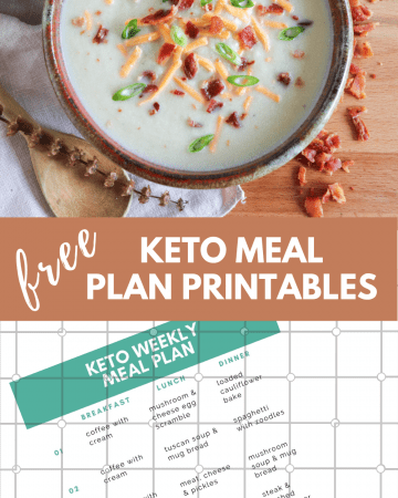 free keto meal plan printables