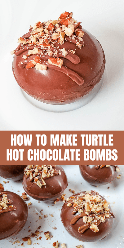 how to make turtle hot chocolate bombs