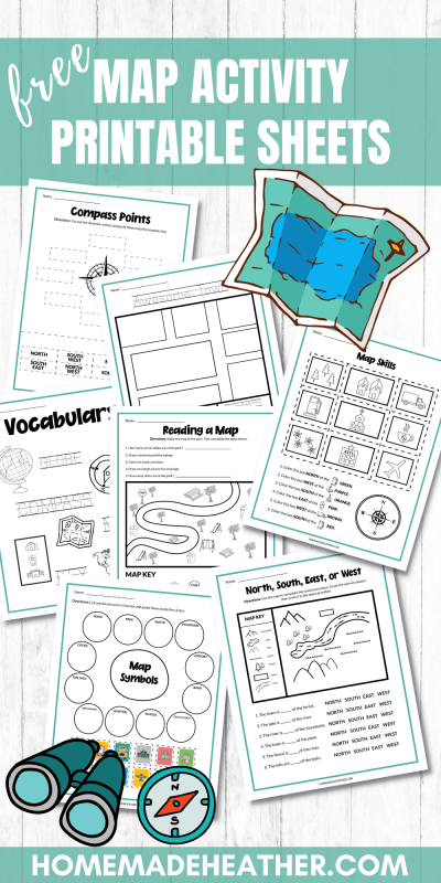 map activity printables