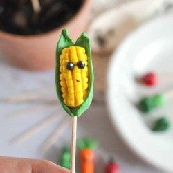 polymer clay corn craft