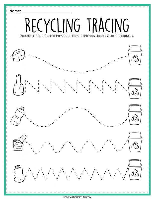 Recycling Activity Printable