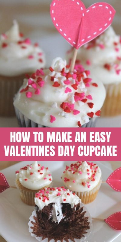 easy valentines day cupcake