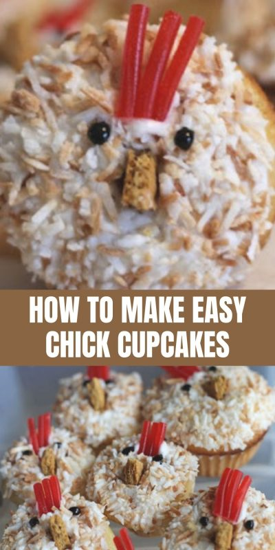 how to make easy chick cupcakes