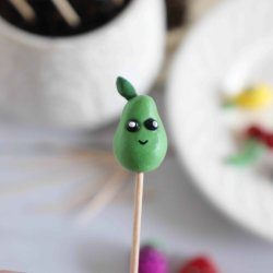 polymer clay fruit plant markers