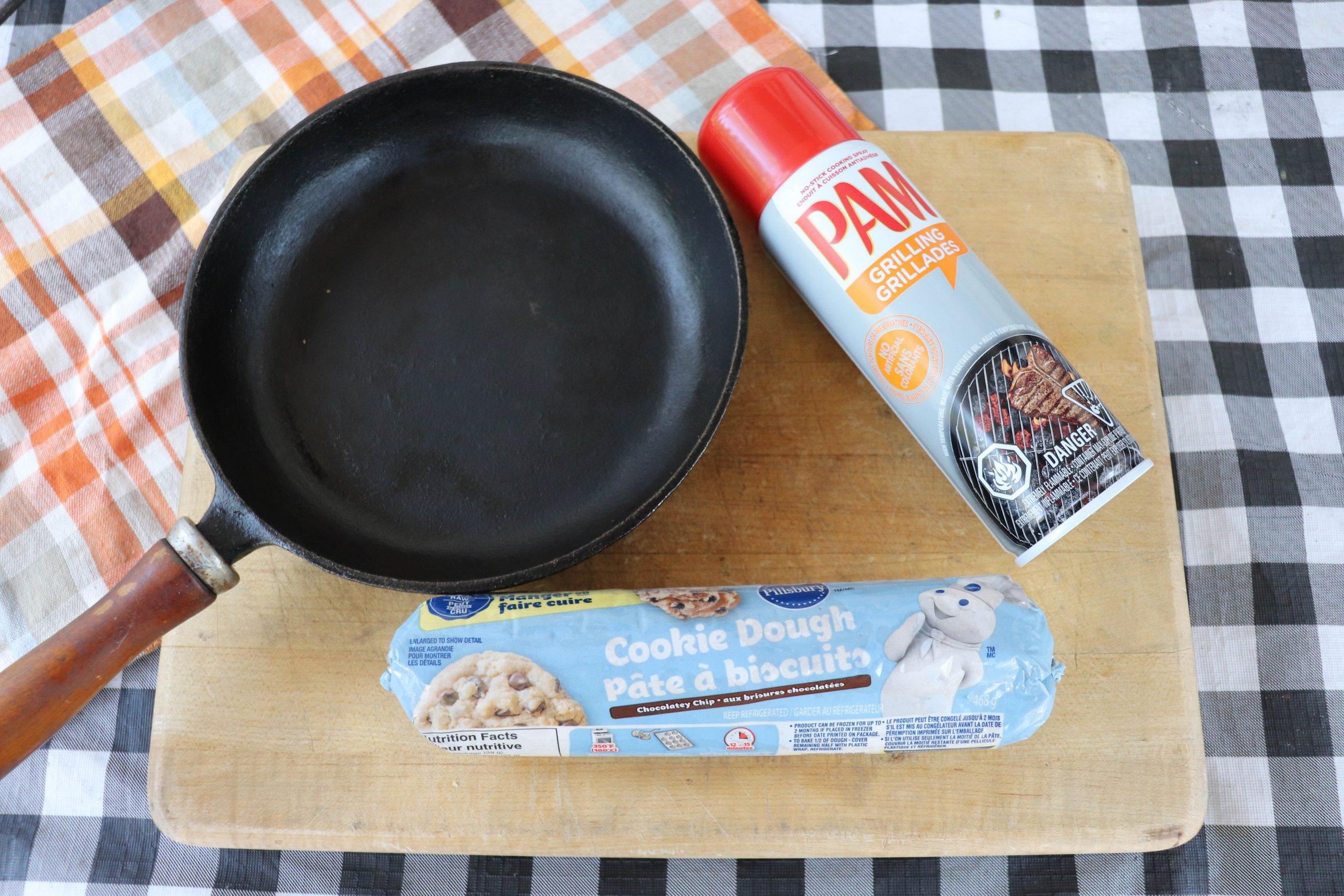Camping Skillet Cookie Ingredients