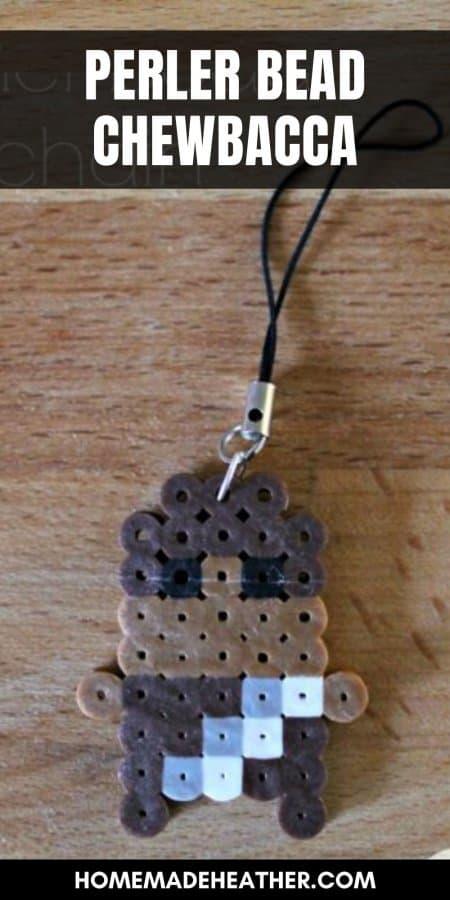Perler Bead Chewbacca Keychain