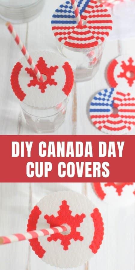 Perler Bead Patriotic Cup Covers