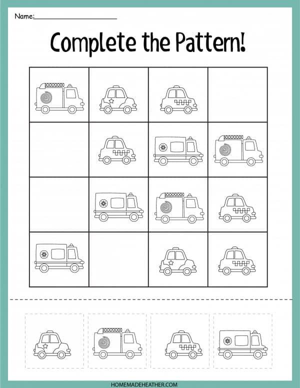 Emergency Printable Pattern
