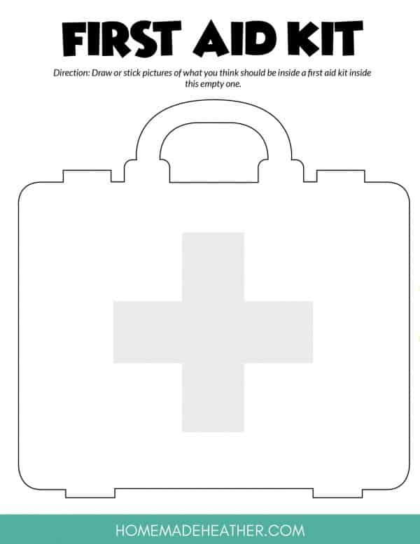 First Aid Kit Printable