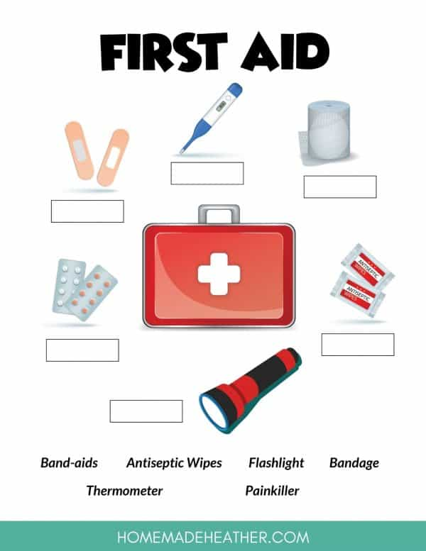 First Aid Kit Activity Printable