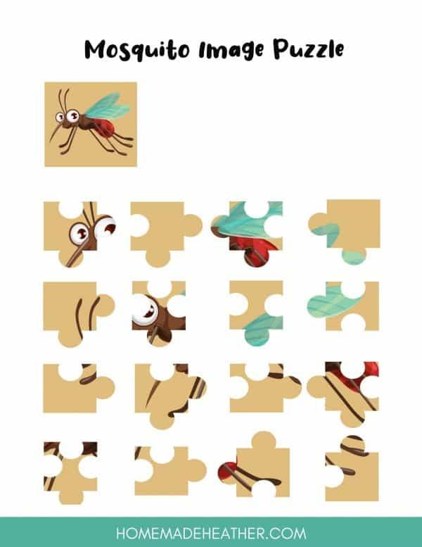 Mosquito Puzzle Printable