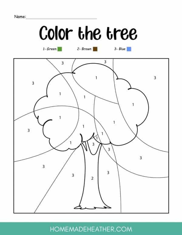 Color the Tree Printable