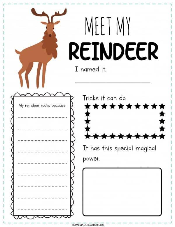 Meet My Reindeer Printable