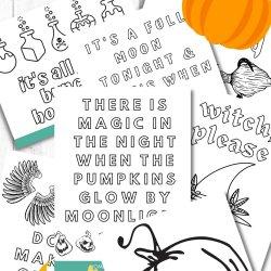 Halloween Coloring Sheet Printables