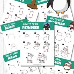 Free How To Draw Winter Printables