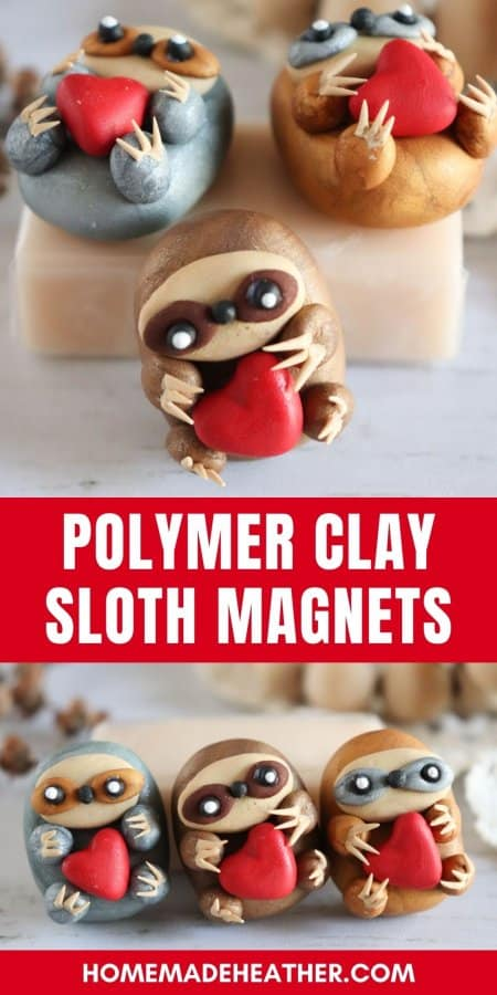 Polymer Clay Sloth Magnets