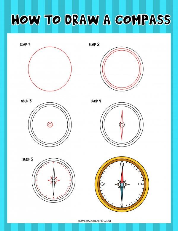 Free Drawing Compass Printable