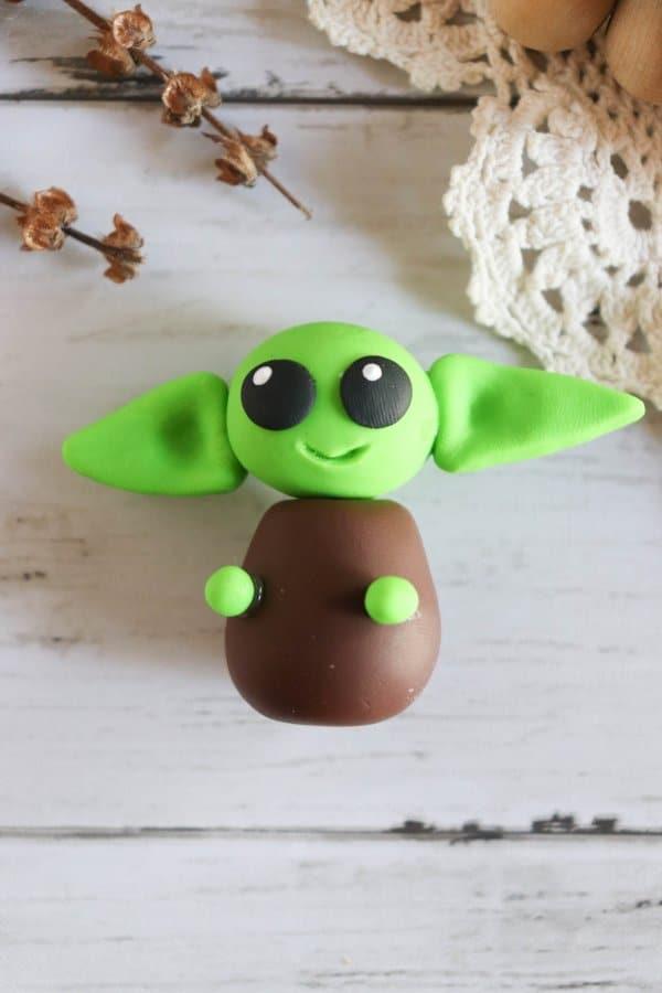 Polymer Clay Baby Yoda Craft