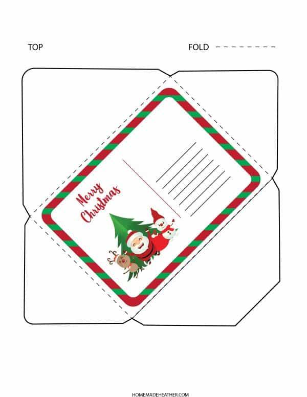 Free Letter to Santa Printable Envelope