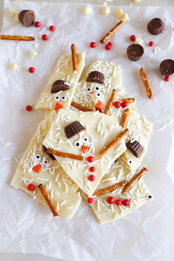 White Chocolate Snowman Bark Recipe