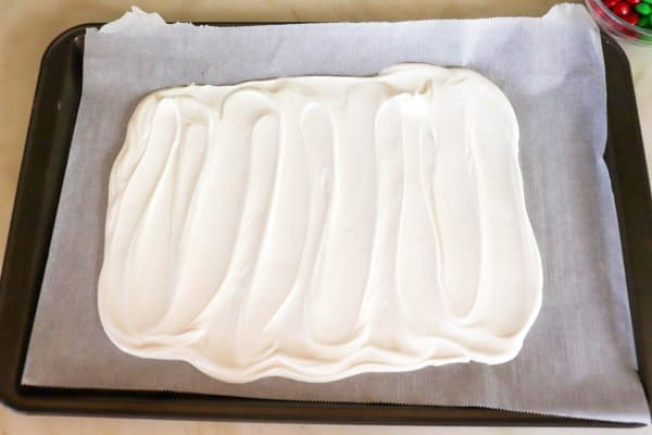 white chocolate Christmas bark process