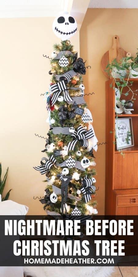 DIY Nightmare Before Christmas Tree
