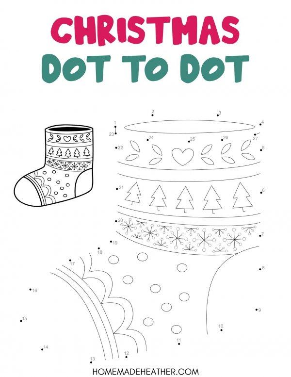 Free Christmas Dot to Dot Printable