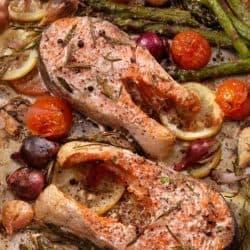 Pan Roasted Salmon Steaks