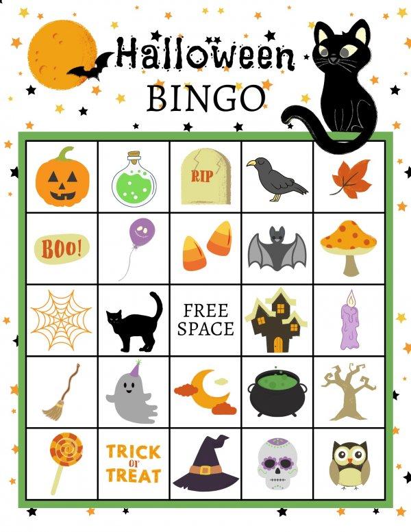 Free Halloween Bingo Board