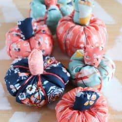 DIY Easy Fabric Pumpkin Tutorial