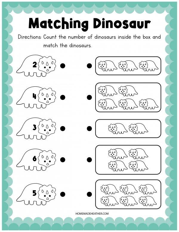 Dinosaur Matching Activity Printable