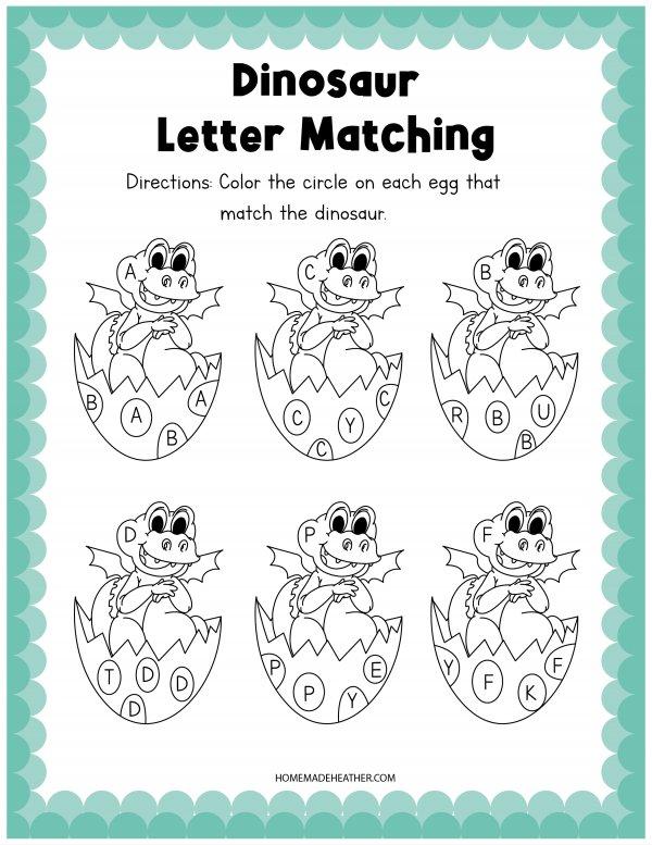 Dinosaur Activity Letter Matching