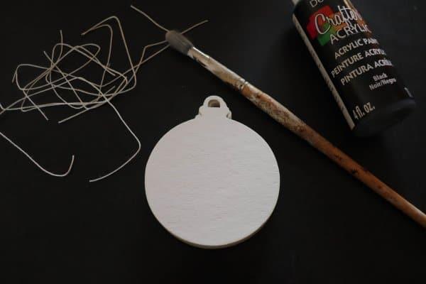 DIY Jack Skellington Ornament Process