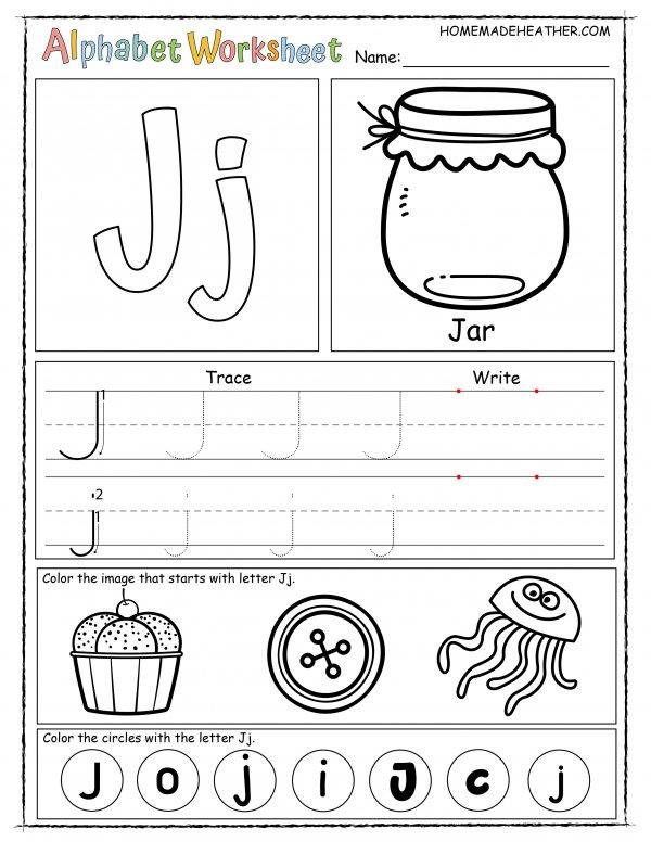 Letter J Printable Worksheet