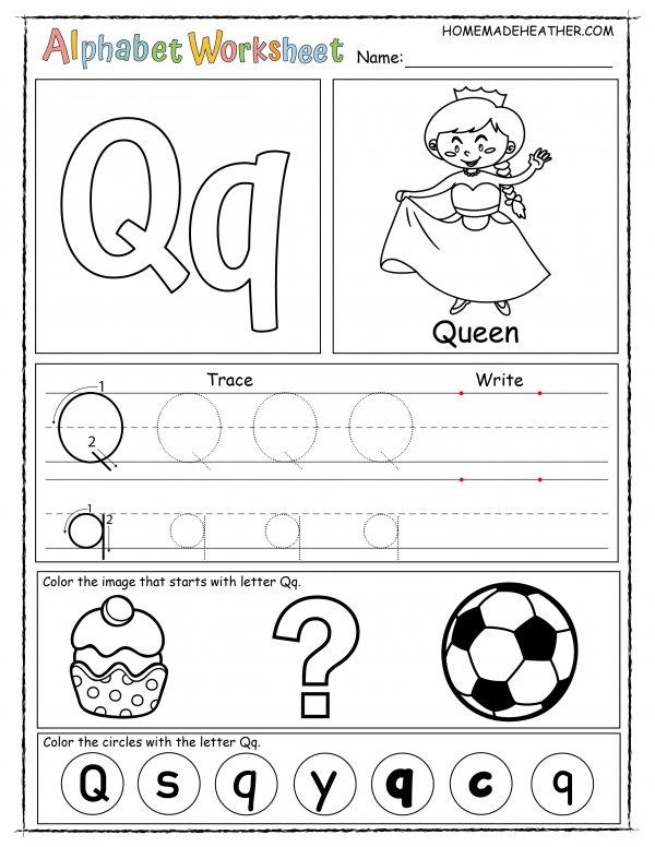 Letter Q Printable Worksheet