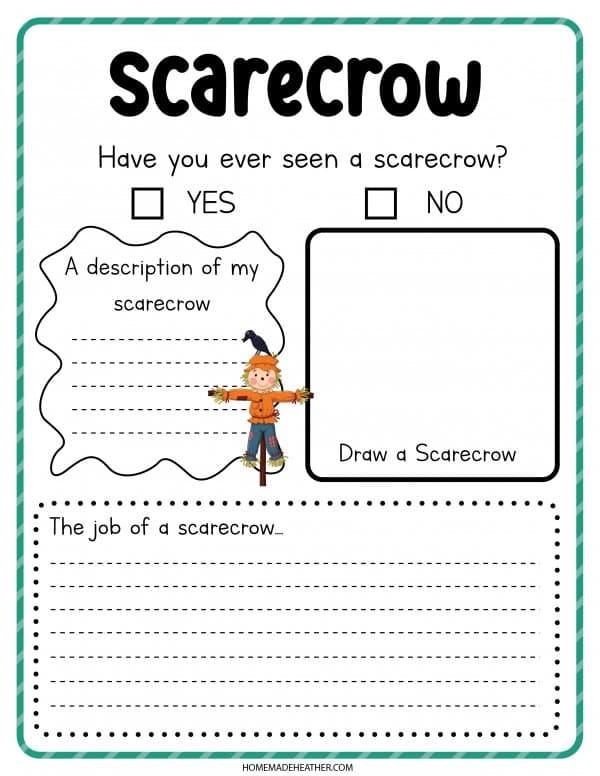 Scarecrow Printable Activity