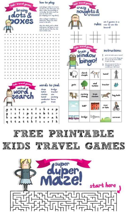 Travel Bingo Printable