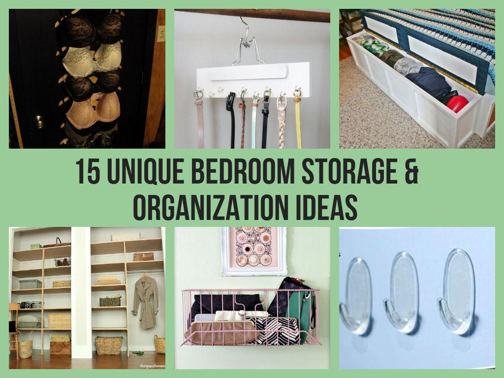 15 Unique Bedroom Storage & Organization Ideas